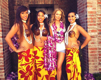 Hula Dancers and Coconut Bras: It Must Be LeAnn Rimes's Birthday